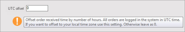 Set Order Time with Local Time Zone