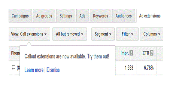 Highlight offers in your ads New Google AdWords callout extensions