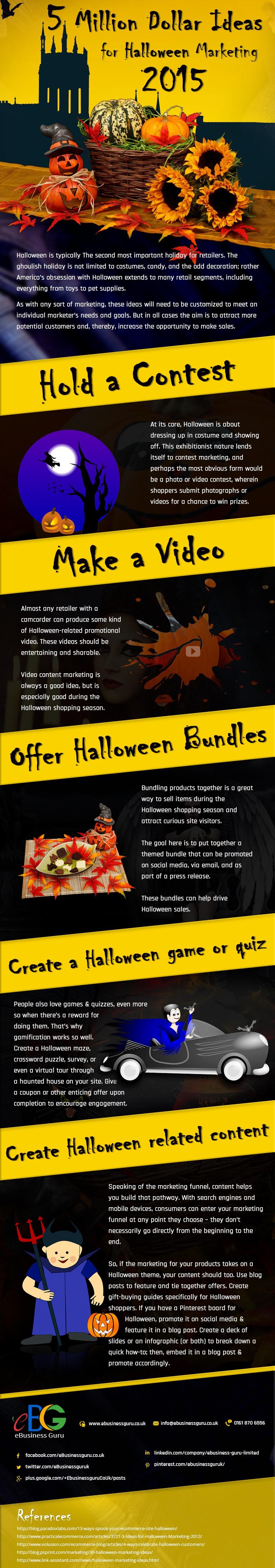 5 Million Dollar Ideas For Halloween Marketing 2015 - Infographic