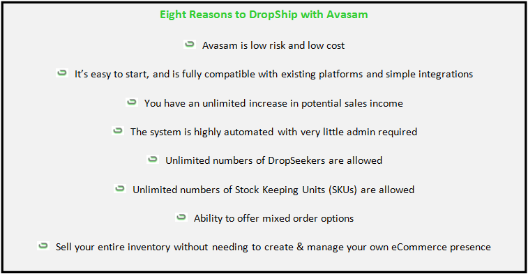 Eight Reasons to DropShip with Awasam3