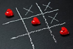 Valentine's Day noughts and crosses