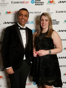 Tejas & Dawn at the Asian Business Awards