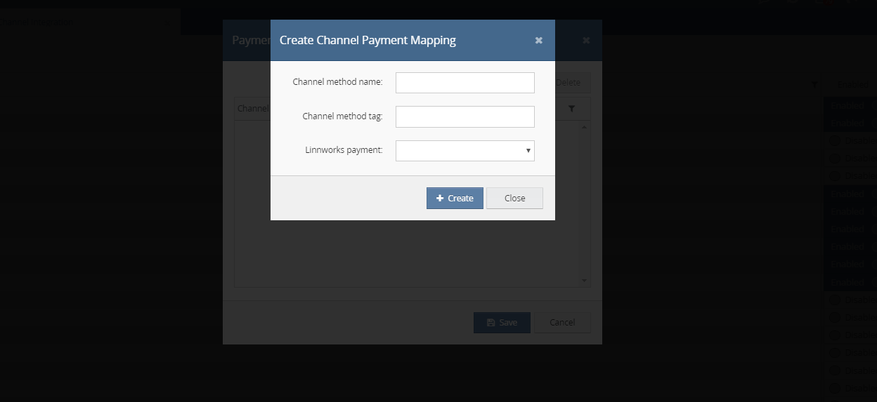 Create-new channel-payment-mapping